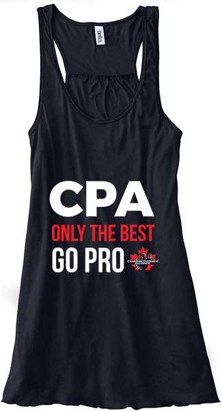 "Image sur WOMEN'S CPA ""ONLY THE BEST GO PRO"" TANK TOP"