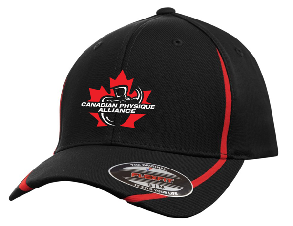 Image sur MEN'S CPA FLEX FIT BALL CAP (BLACK/RED)