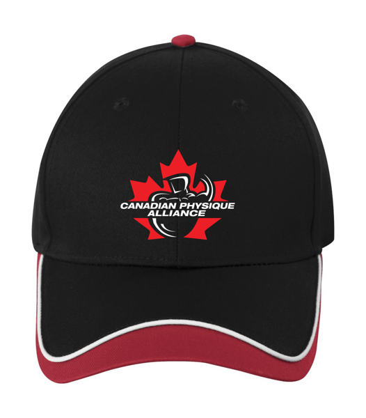 Image sur UNISEX CPA BALL CAP (BLACK/RED)